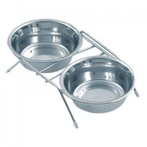 """כלי אוכל ומים נירוסטה 13 ס""""מ/0.35L"""