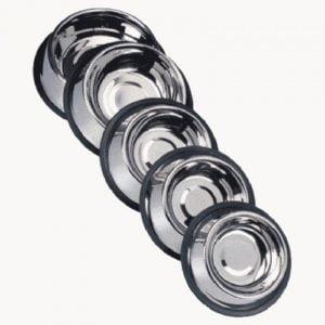 """כלי אוכל/מים נירוסטה עם גומי 15 ס""""מ/0.150L"""