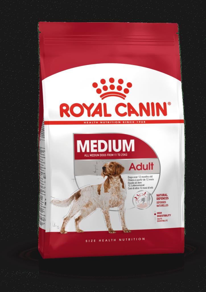 """royal canin- מזון יבש כלבים בוגרים מדיום 15 ק""""ג"""
