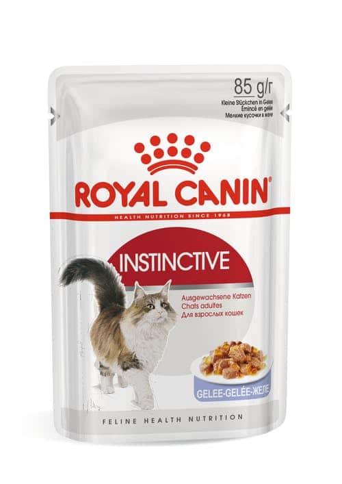 royal canin- פאוץ לחתול אינסטינקטיב נתחים בג'לי