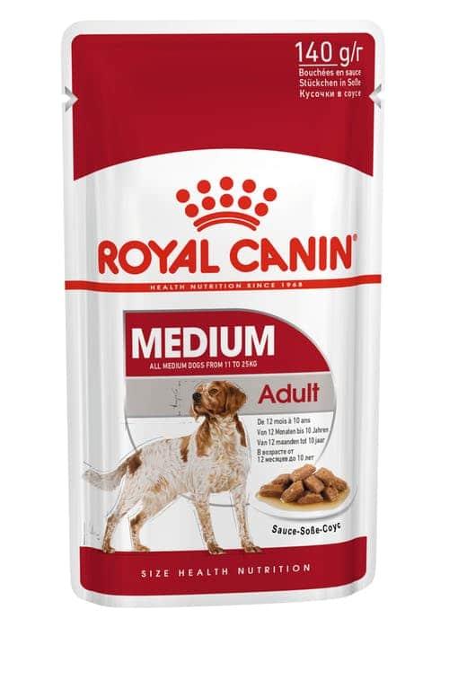 royal canin-פאוץ בטעם עוף לכלבים בוגרי גזע בינוני