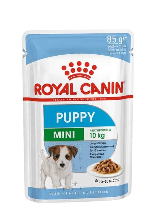 royal canin-פאוץ בטעם עוף לגורי כלבים קטנים