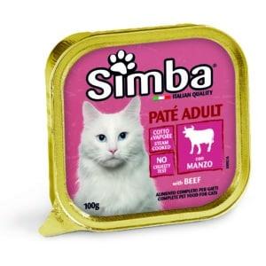 סימבה מעדן חתול 100 גרם -בשר
